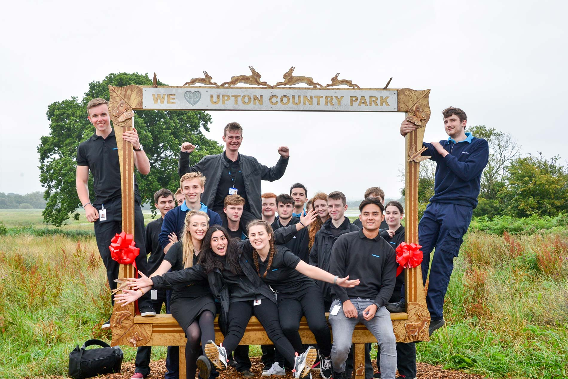 Cobham apprentices put Upton Country Park in the frame